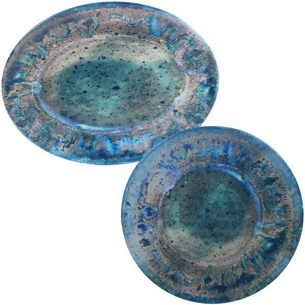 Breana 2 Piece Platter Set by Mistana