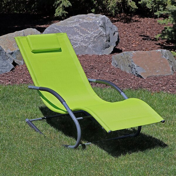 Ware Rocking Wave Chaise Lounge With Pillow By Winston Porter