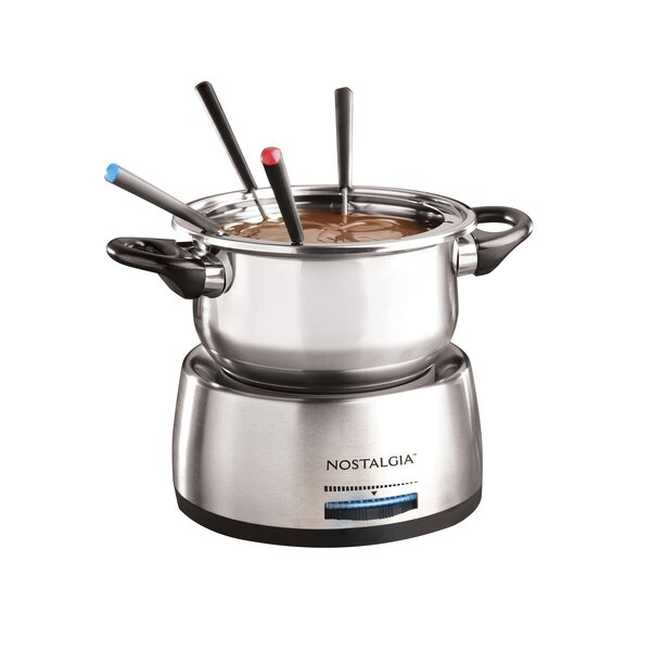 Stainless Steel Fondue Pot by Nostalgia
