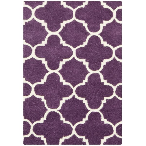 Wilkin Purple & Ivory Area Rug by Wrought Studio