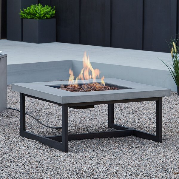 Brenner Concrete Propane/Natural Gas Fire Pit Table by Real Flame