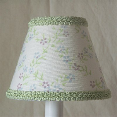 Plain Jane 7 H Fabric Empire Lamp Shade ( Screw On ) in Green/White