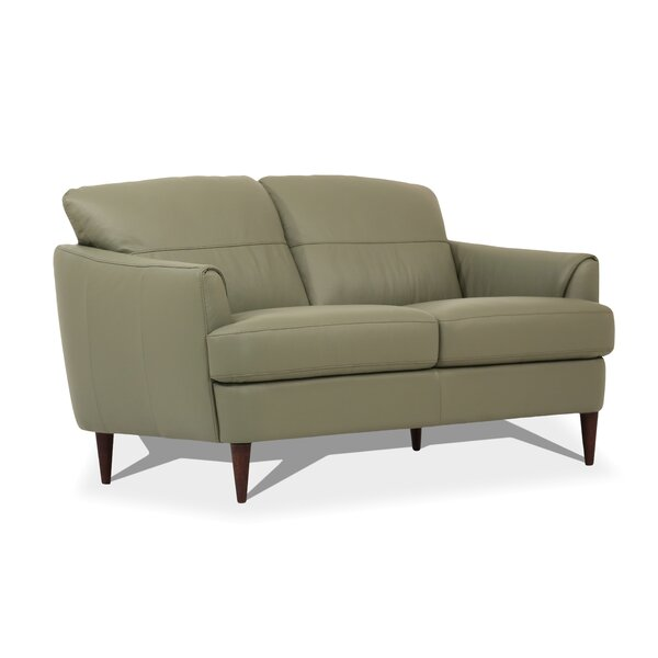 Modern Style Bova Leather Loveseat by Corrigan Studio by Corrigan Studio