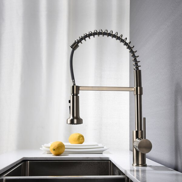 Spring Pull Down Single Handle Kitchen Faucet