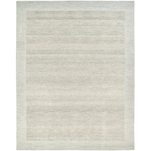Freeman Hand-Tufted Wool Ivory Area Rug by Rosecliff Heights
