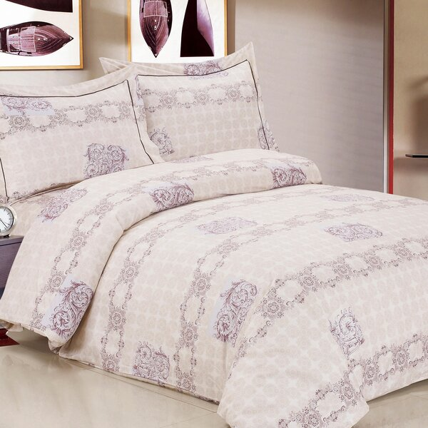 French Heritage Luxurious 6 Piece Duvet Cover Set by Violet Linen