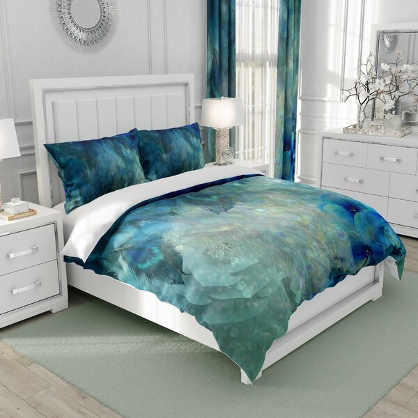 Sherise Abstract Watercolor Floral Duvet Cover Set