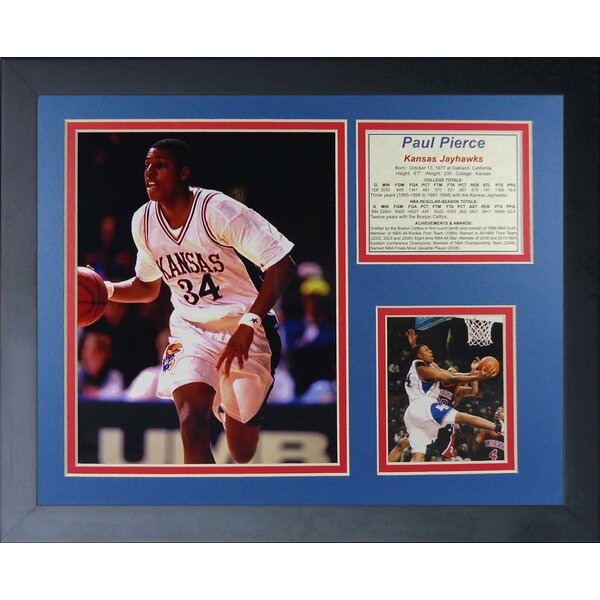 Paul Pierce Kansas Jayhawks Framed Photographic Print by Legends Never Die