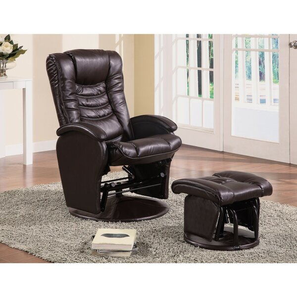 Acoff Practically Worth Glider Manual Swivel Recliner with Ottoman by Latitude Run