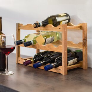 Realxdays 12 Bottle Floor Wine Rack