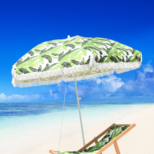 Fedna Fiberglass Portable 6.5' Beach Umbrella by Bayou Breeze Bayou Breeze