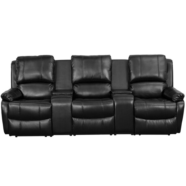 Leather Home Theater Sofa by Red Barrel Studio