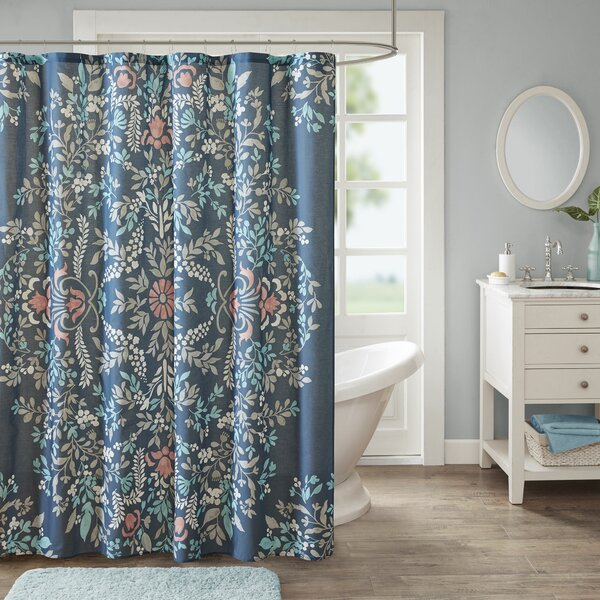 Breckenridge Printed Cotton Shower Curtain by Bungalow Rose