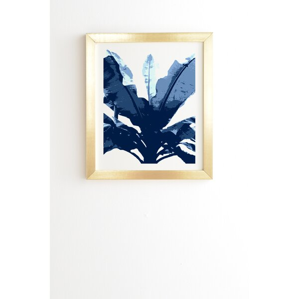 Bananarama Navy by Deb Haugen Framed Graphic Art by East Urban Home