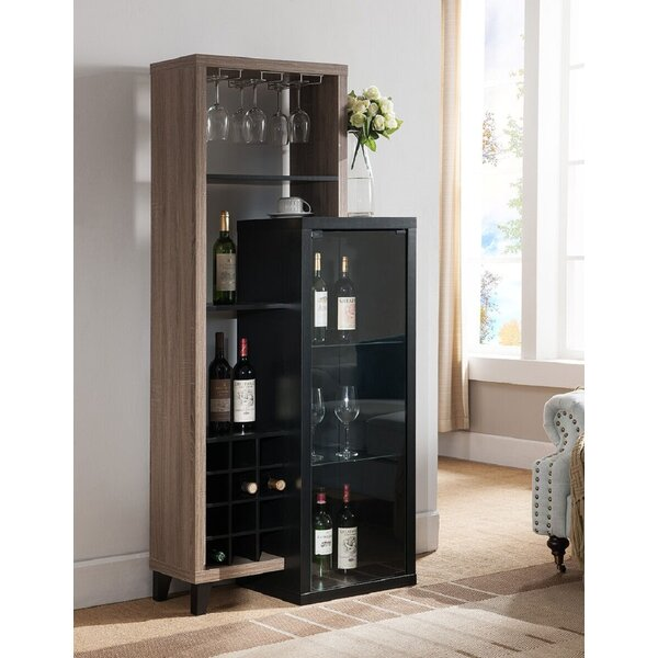 Airell Office Home Utility Wooden Bar With Wine Storage By Ebern Designs