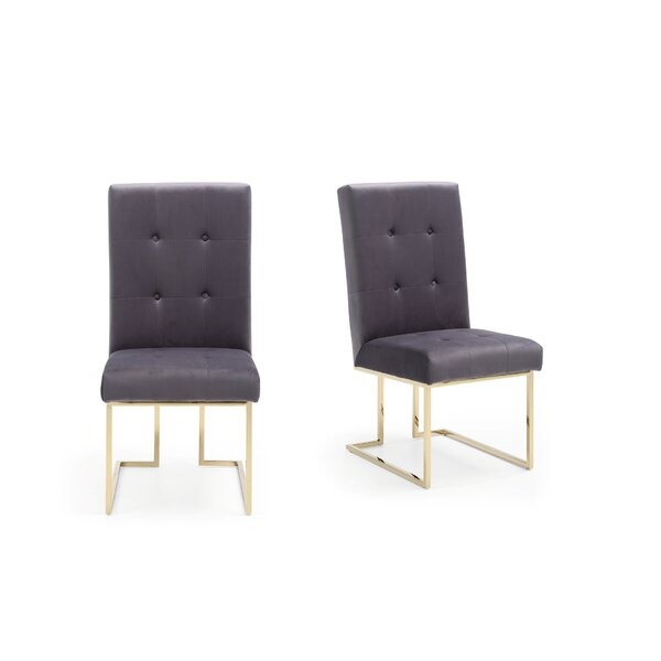 Frisina Upholstered Dining Chair (Set of 2) by Everly Quinn