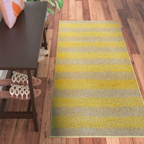 Rashad Yellow Area Rug by Viv + Rae