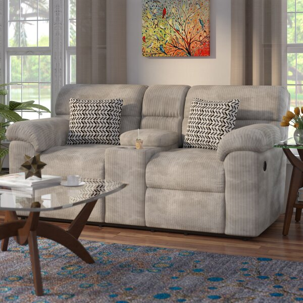 Get Great Deals Melville Console Recliner Reclining Loveseat by Red Barrel Studio by Red Barrel Studio