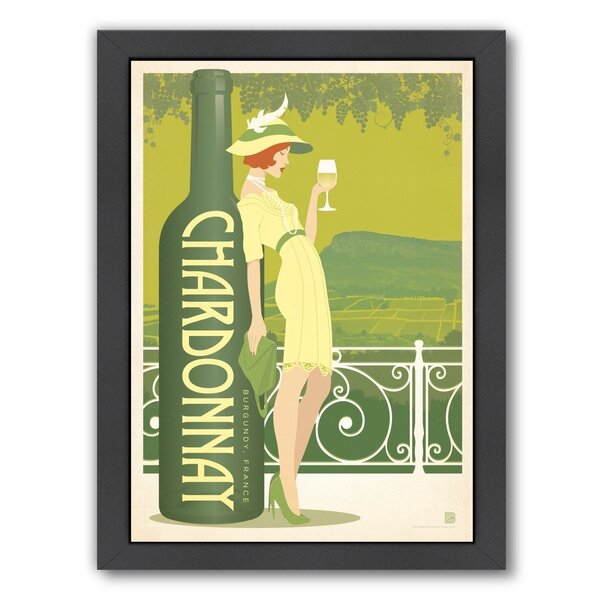 Wine Chardonnay Framed Vintage Advertisement by East Urban Home