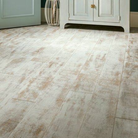 Architectural Remnants 7.59 x 47.83 x 12mm Oak Laminate Flooring in Milk by Armstrong Flooring