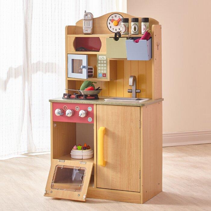 5 Piece Little Chef Wooden Play Kitchen Set