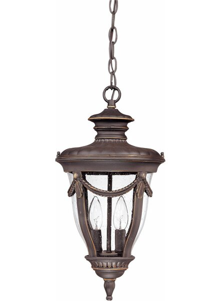 Rankin 2-Light Outdoor Hanging Lantern by Bay Isle Home