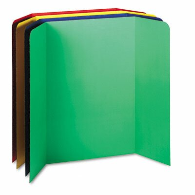 Tri-Fold Presentation Boards, 48 x 36, Assorted Colors, Four Boards by Pacon Corporation