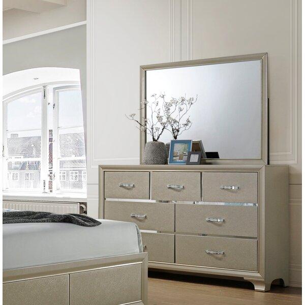 Braysham 7 Drawer Double Dresser with Mirror by Rosdorf Park