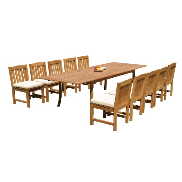 Damarion 11 Piece Teak Dining Set by Rosecliff Heights