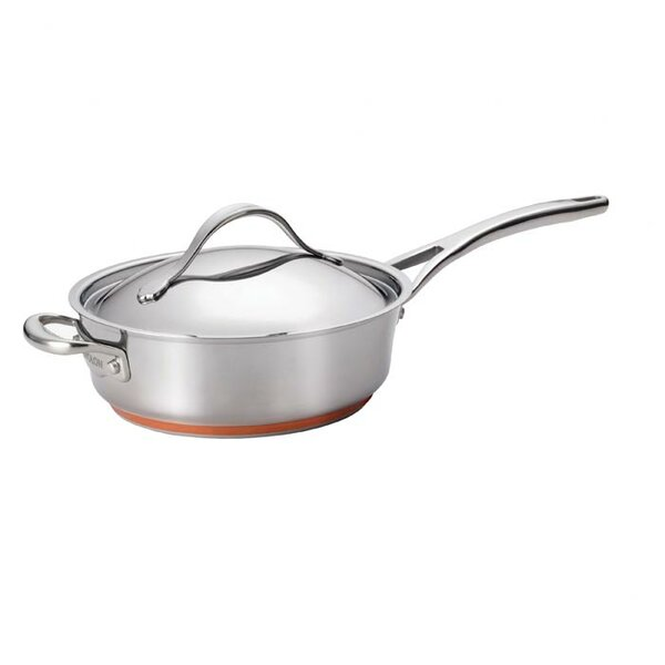 3 qt. Nouvelle Covered Saute Pan with Lid by Anolo