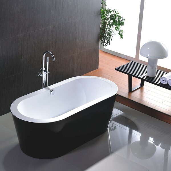 68 x 36 Freestanding Soaking Bathtub by Vanity Art