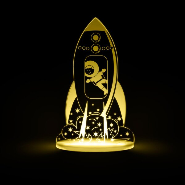 Rocket LED Night Light by Total Dreamz