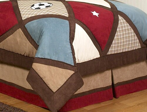 All Star Sports Queen Bed Skirt by Sweet Jojo Designs