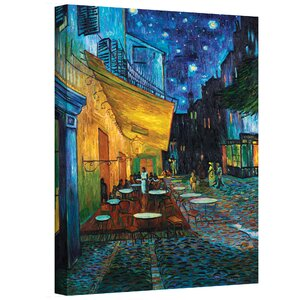 Cafe Terrace at Night' by Vincent Van Gogh Framed Graphic Art Print on Canvas by Charlton Home