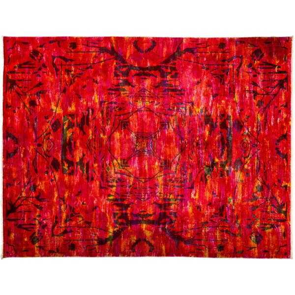 One-of-a-Kind Vibrance Hand-Knotted Red Area Rug by Darya Rugs
