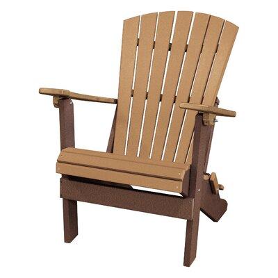 Carla Back Wood Folding Adirondack Chair Red Barrel Studio Color: Cedar/Tudor Brown