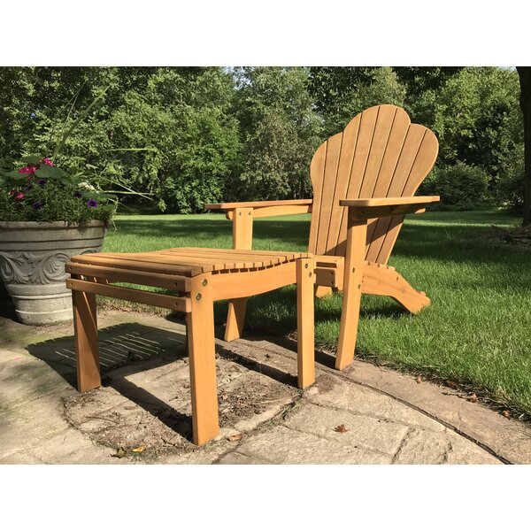 Midhurst Classic Wood Adirondack Chair with Ottoman by Red Barrel Studio