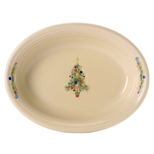 Christmas Tree Oval Vegetable Bowl by Fiesta