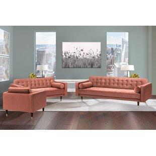 Adelheide 3 Piece Standard Living Room Set by Ivy Bronx