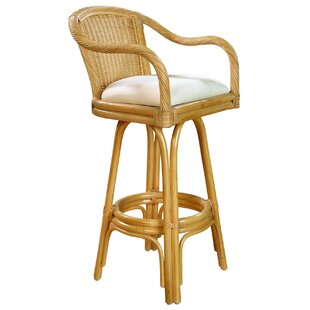Key West 24 Swivel Bar Stool by Hospitality Rattan
