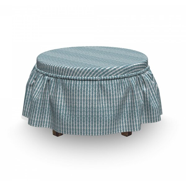Doodle Stripe Ottoman Slipcover (Set Of 2) By East Urban Home