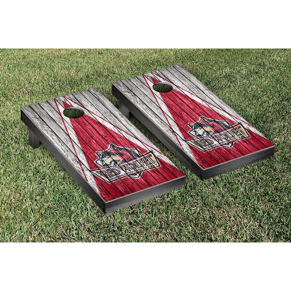 NAIA Weathered Triangle Version Cornhole Game Set by Victory Tailgate