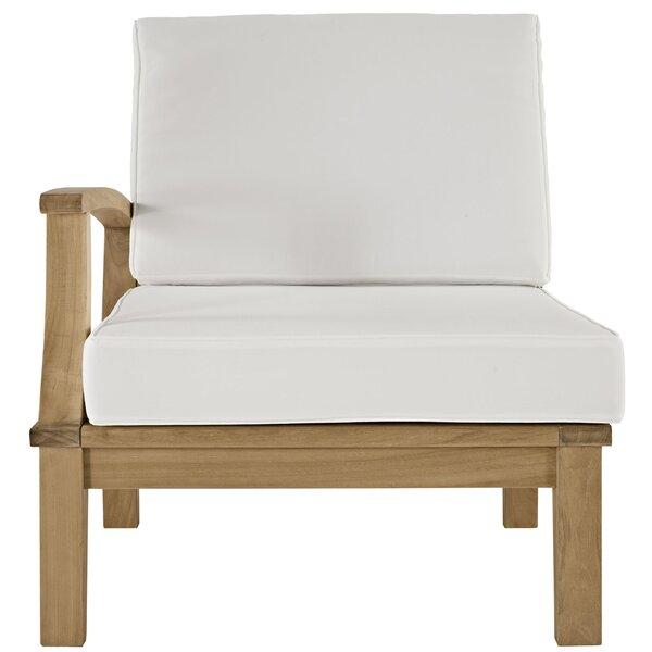 Elaina Glade Teak Patio Chair with Cushions by Beachcrest Home