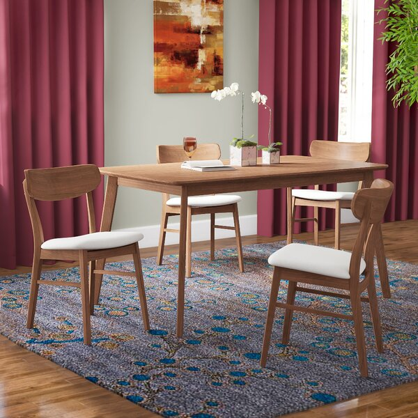 Ado 5 Piece Solid Wood Dining Set by Brayden Studio