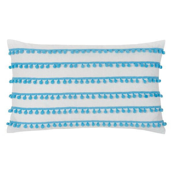 Pom Pom Cotton Lumbar Pillow by Southern Tide