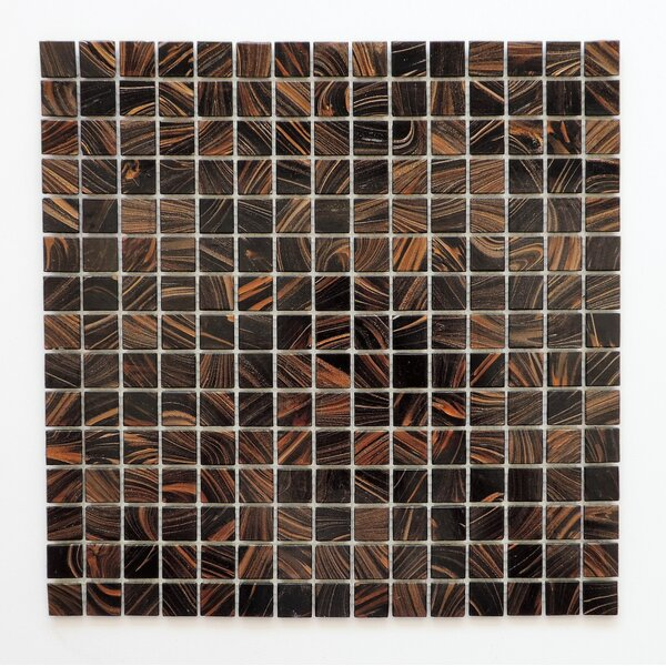 Amsterdam 0.78 x 0.78 Glass Mosaic Tile in Brown Gold Dust by The Mosaic Factory