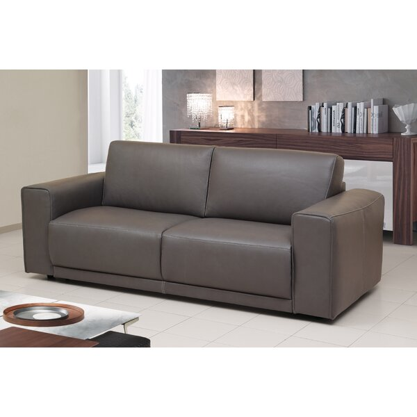 Rowley Genuine Leather Sofa Bed Sleeper by Orren Ellis