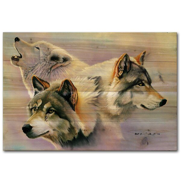 Wolves Are Forever by Bob Quick Painting Print Plaque by WGI-GALLERY