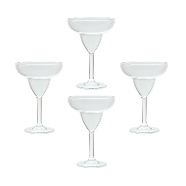 Iana 12 oz. Plastic Every Day Glasses (Set of 4) by Red Barrel Studio