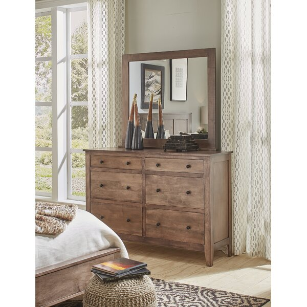 Mccalla 6 Drawer Double Dresser with Mirror by Millwood Pines